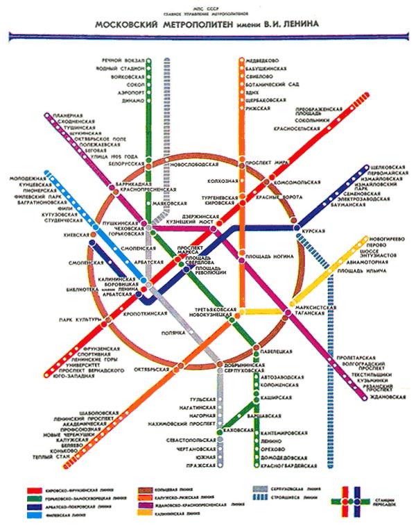(Схема линий метрополитена