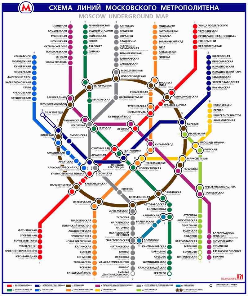 Карта метро (Схема метро)